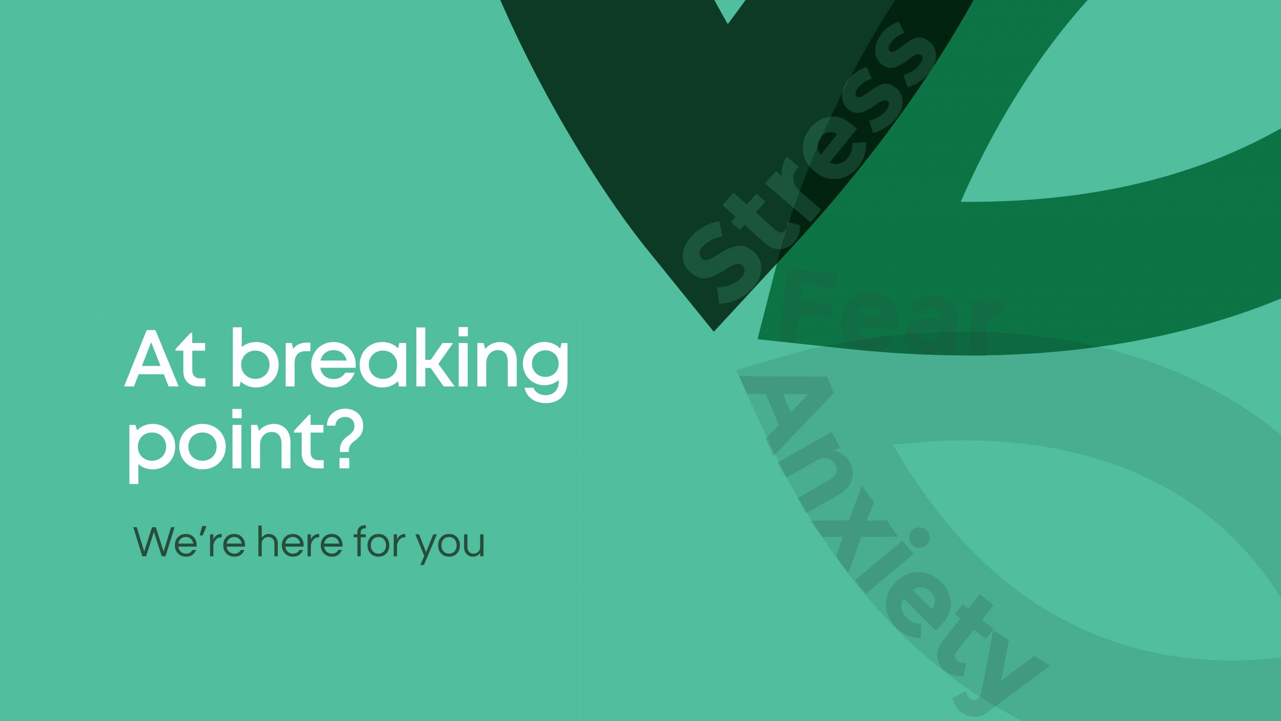 Visual identity campaign for Acacia Connections Brisbane - At breaking point?