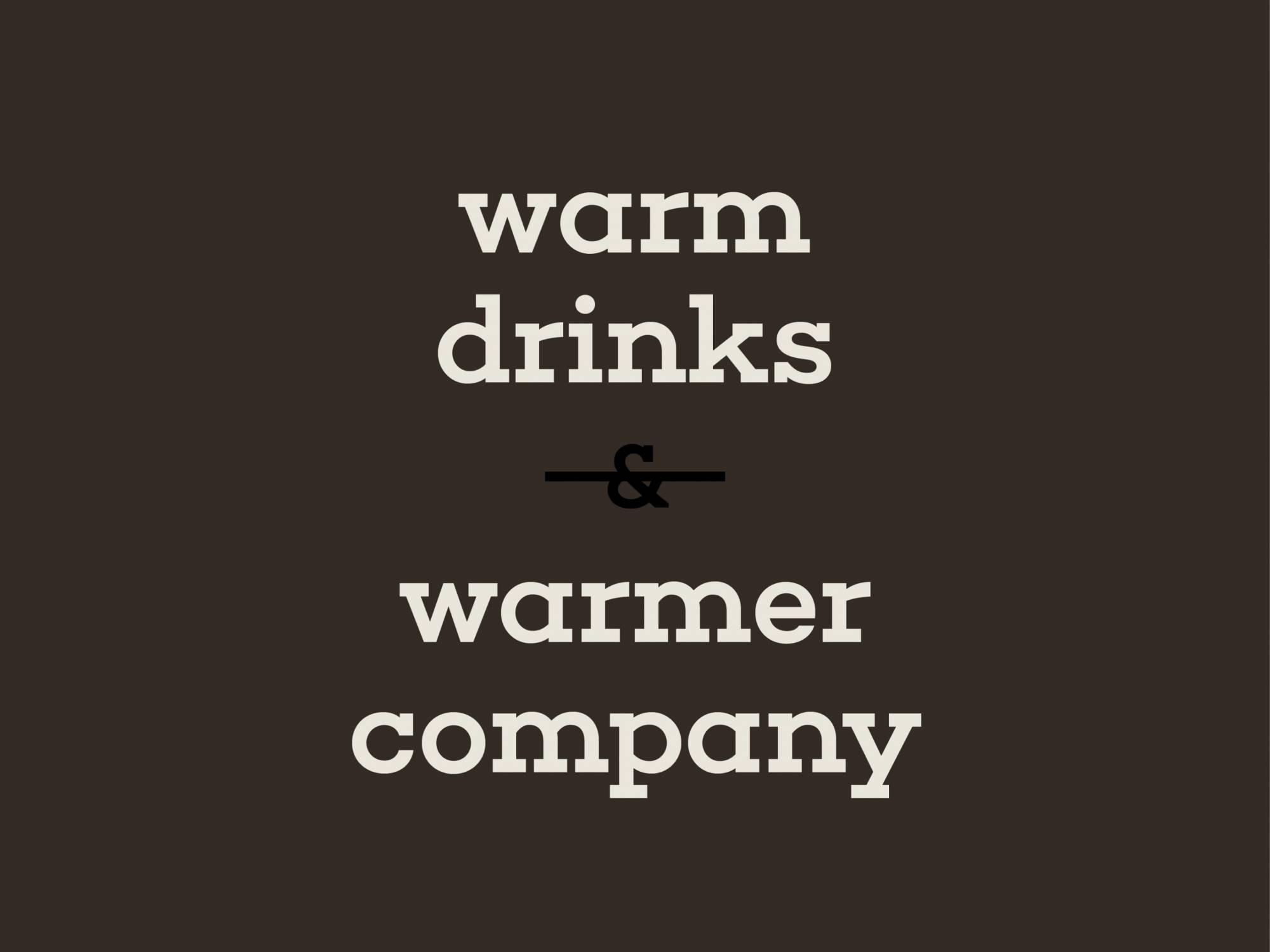 Social post: warm drinks & warmer company