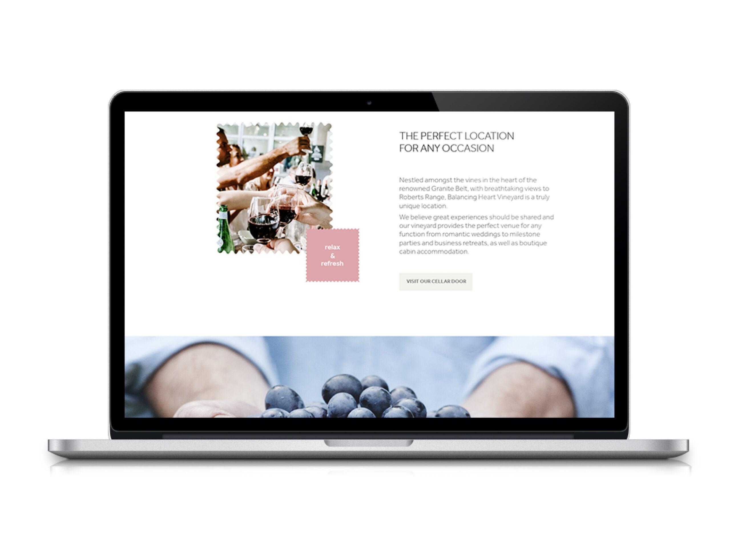Balancing Heart wine website example
