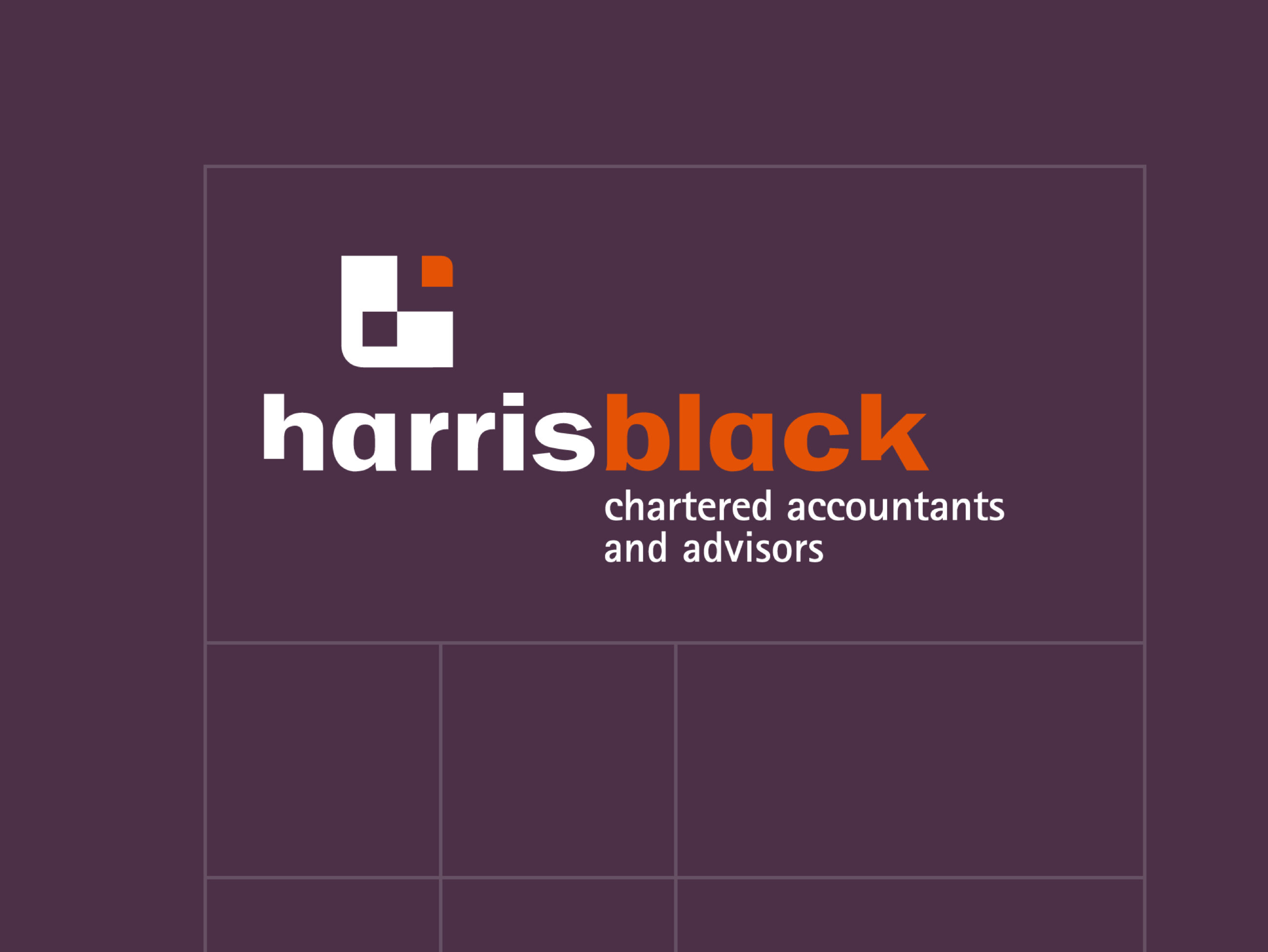 Harris Black branding example