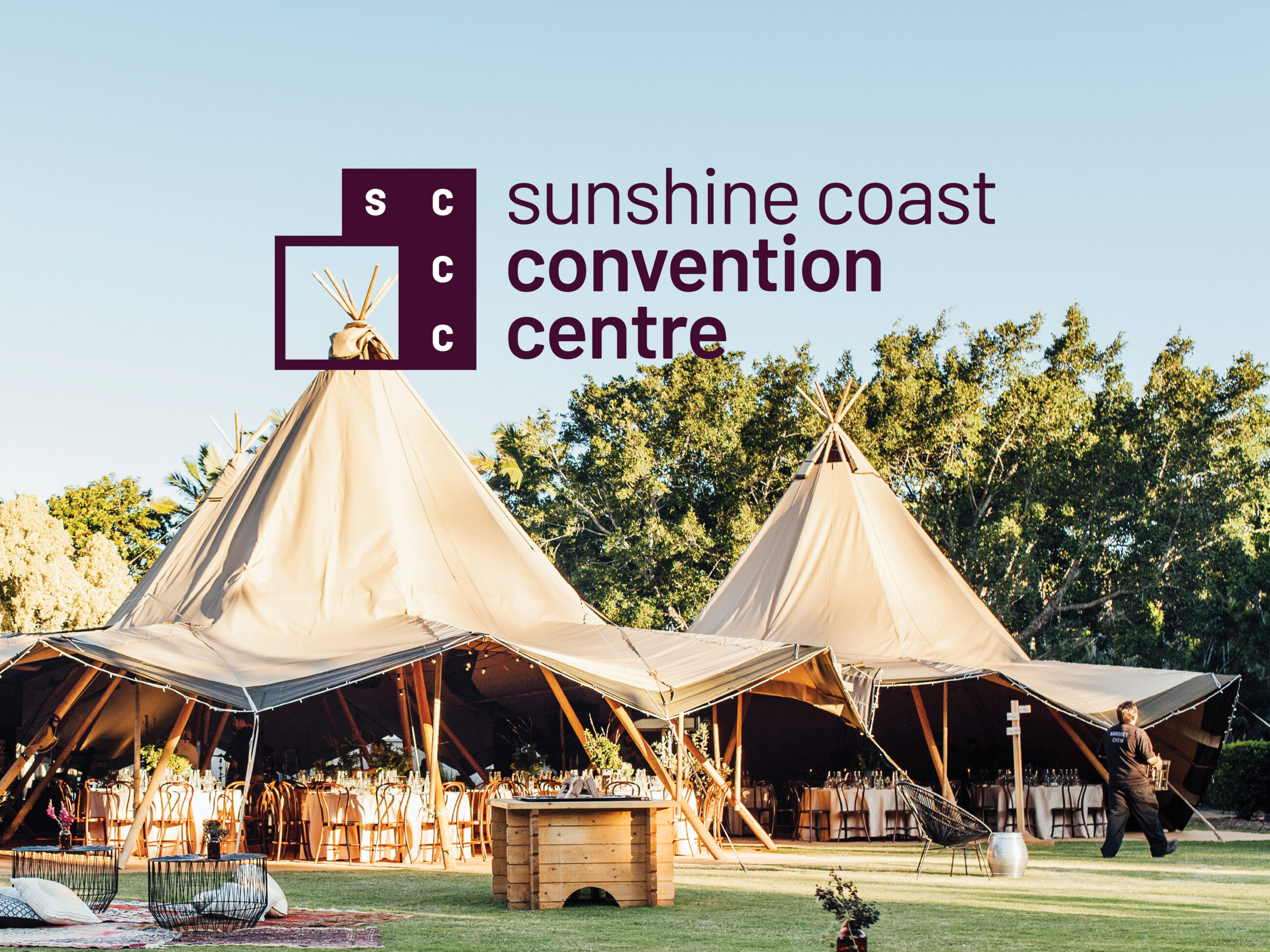 Sunshine Coast Convention Centre - Outdoor tipi event
