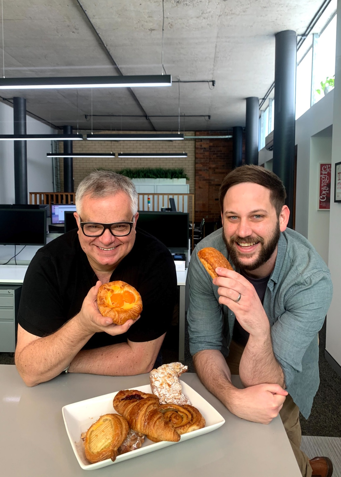 Jack and Jacob at DAIS enjoying some pastries together