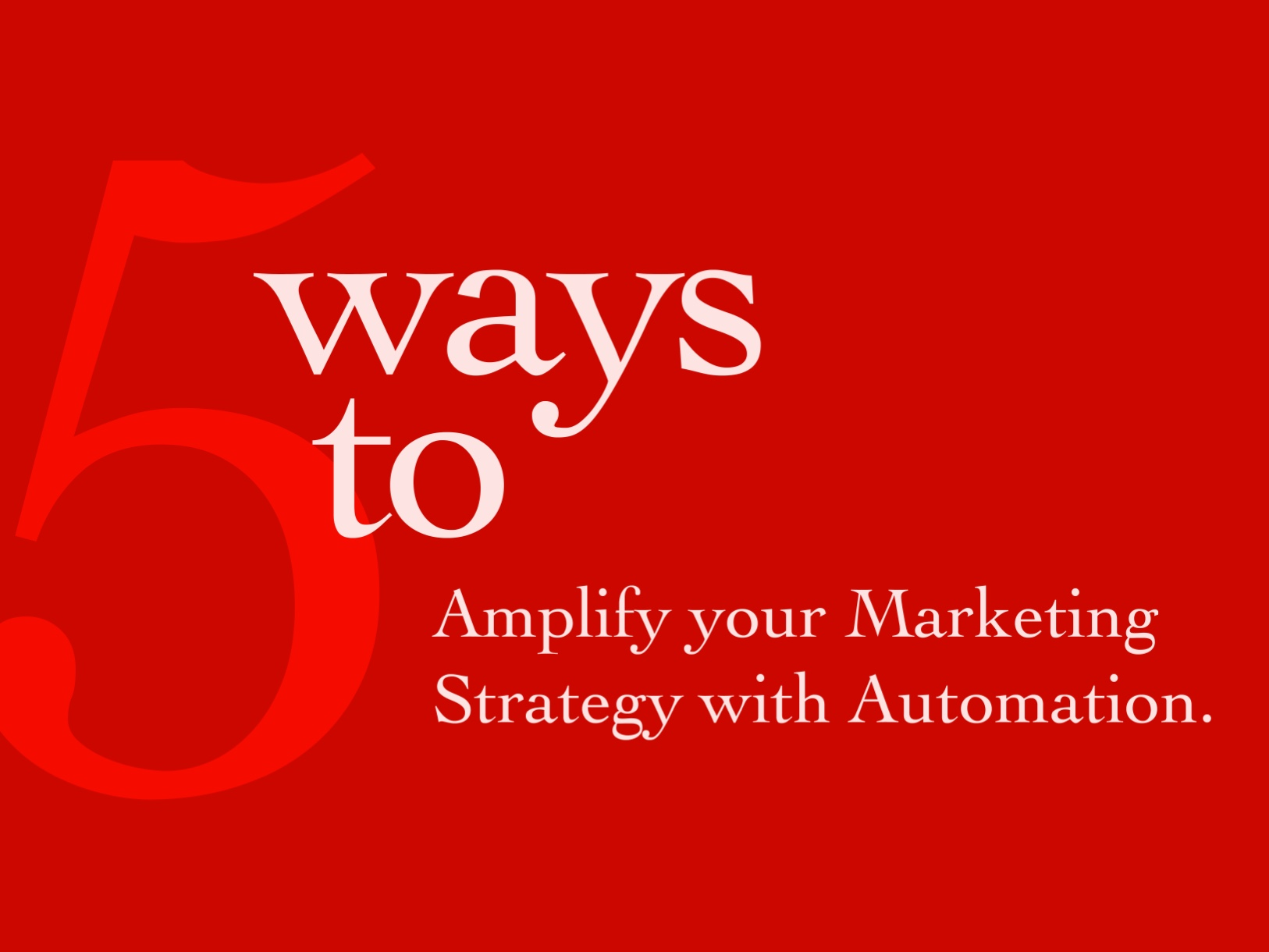 Amplify Your Brand Marketing Strategy with Automation - Hero Banner