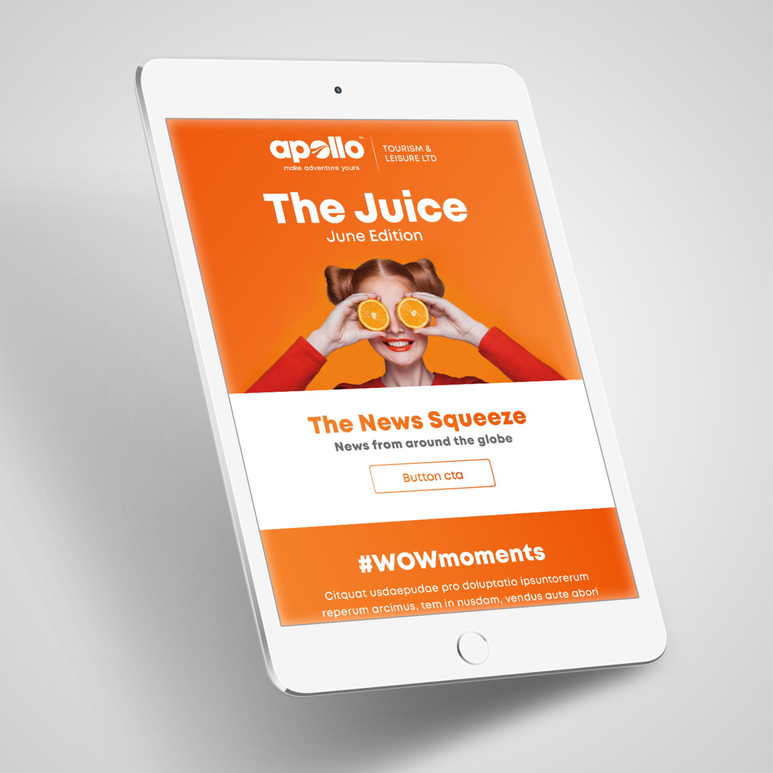 Apollo Branding Example on iPad