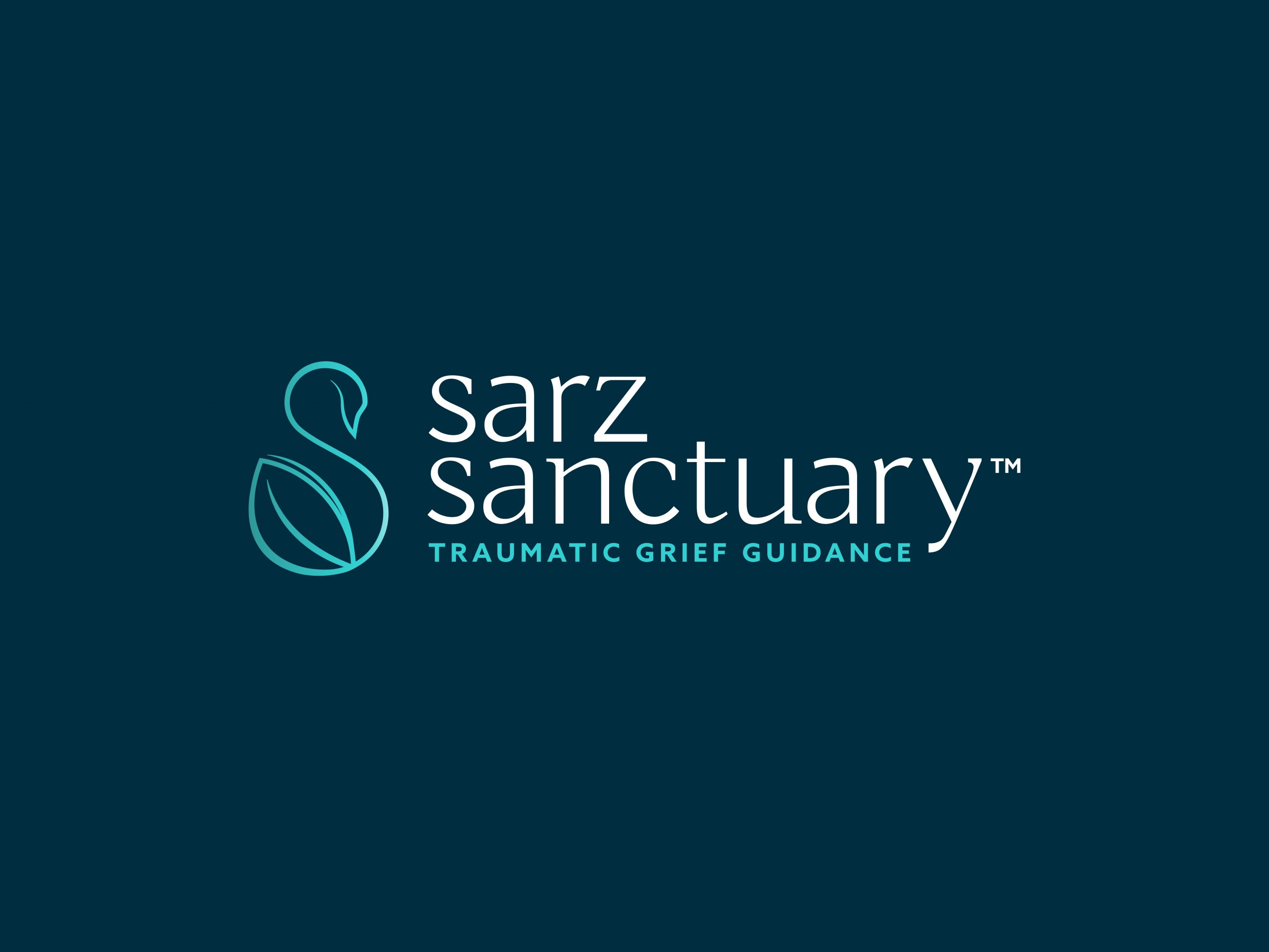 Brand identity design for not-for-profit brand Sarz Sanctuary, providing traumatic grief guidance