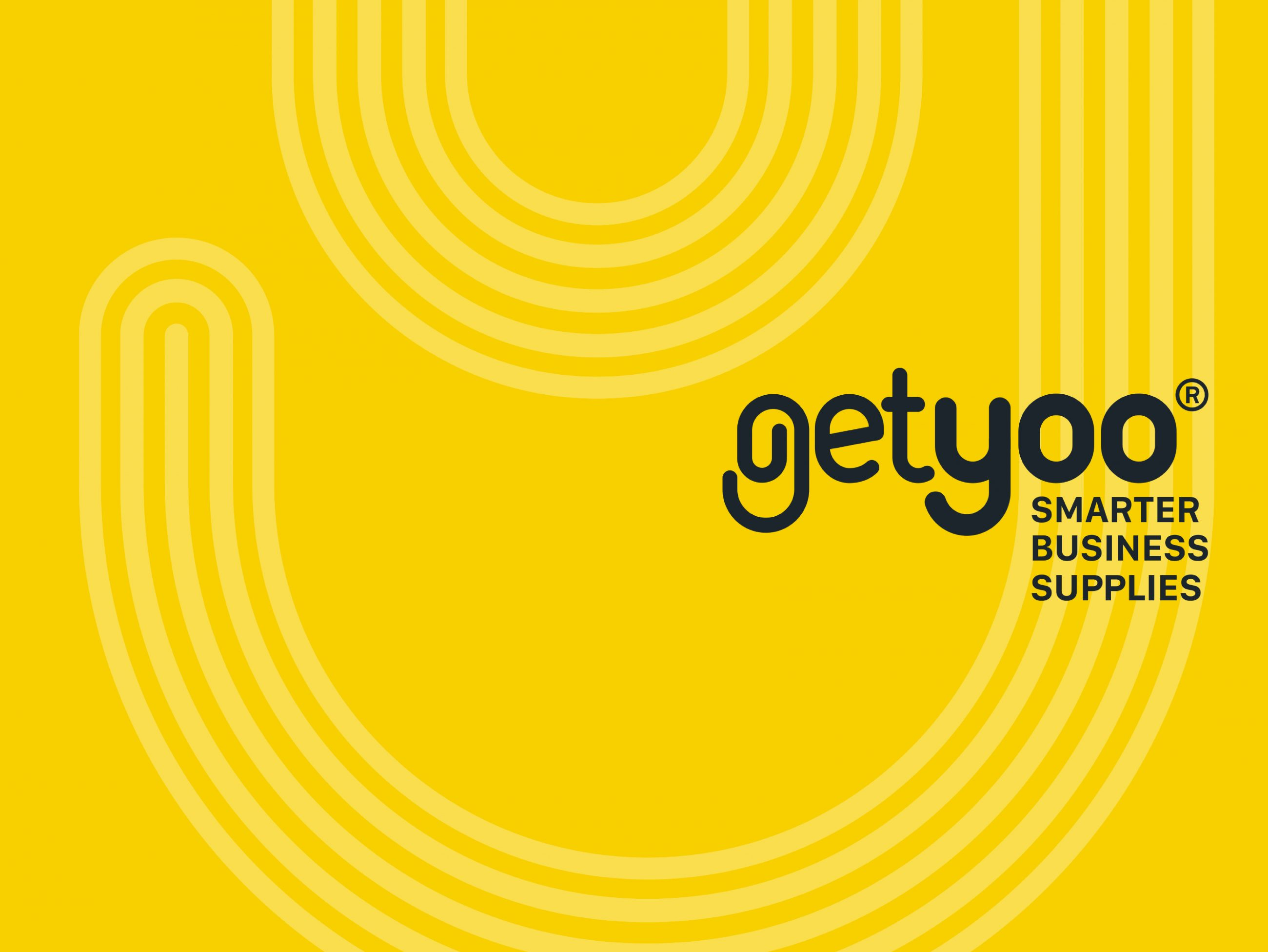 Rebrand logo and visual identity for stationery supplier GetYoo