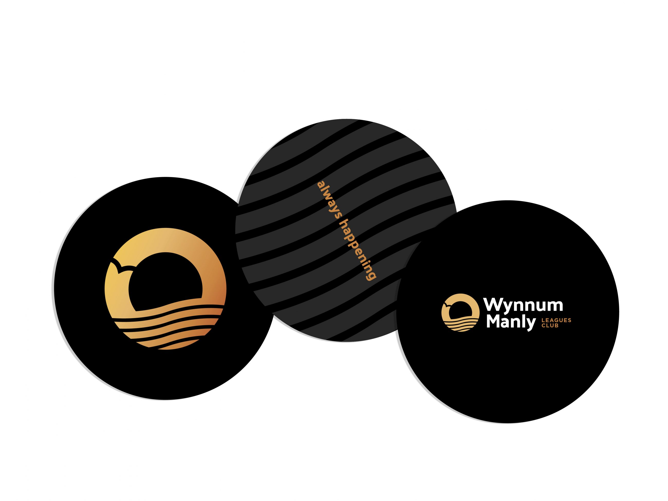 Branded coaster design for community and leagues club