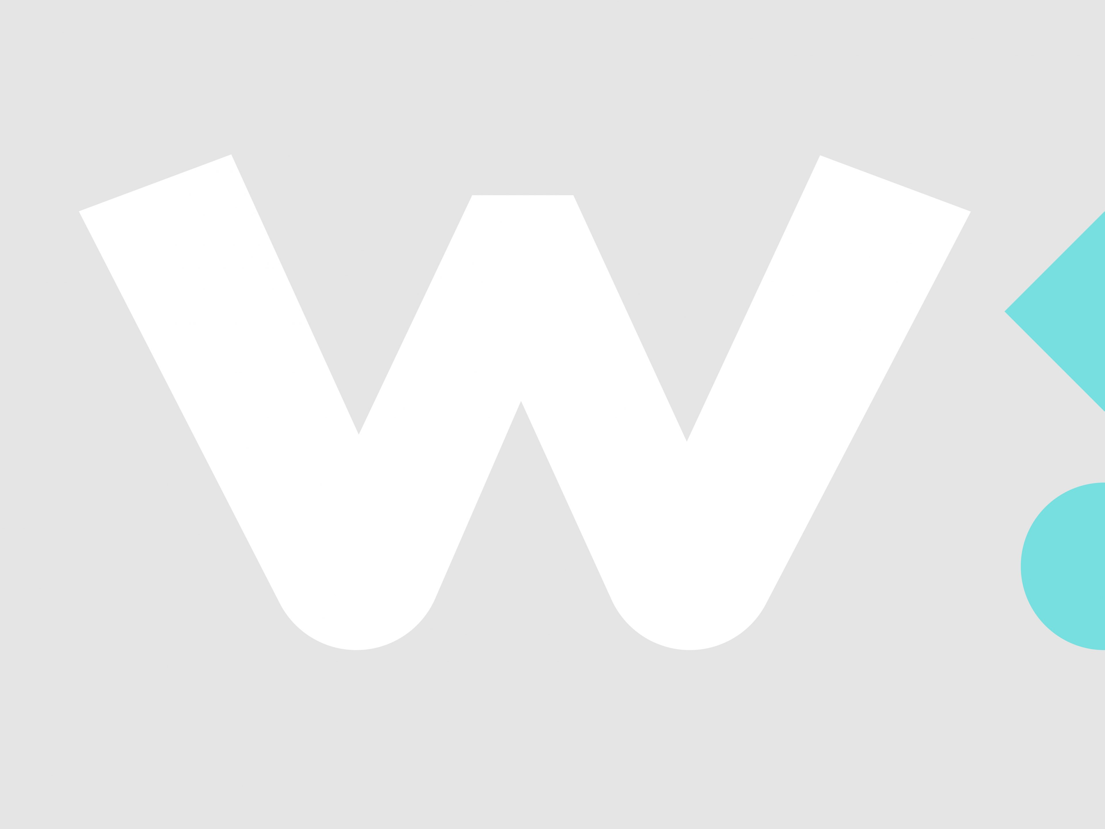 Brand icon of W and blue graphic devices