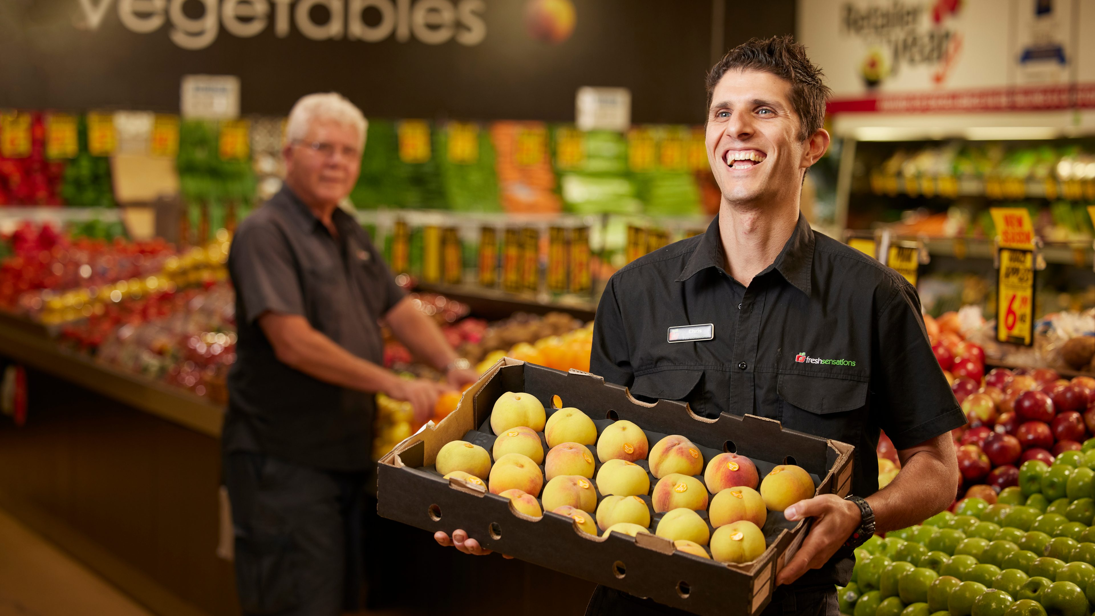 Local grocery store owner - financial services brand Cosca