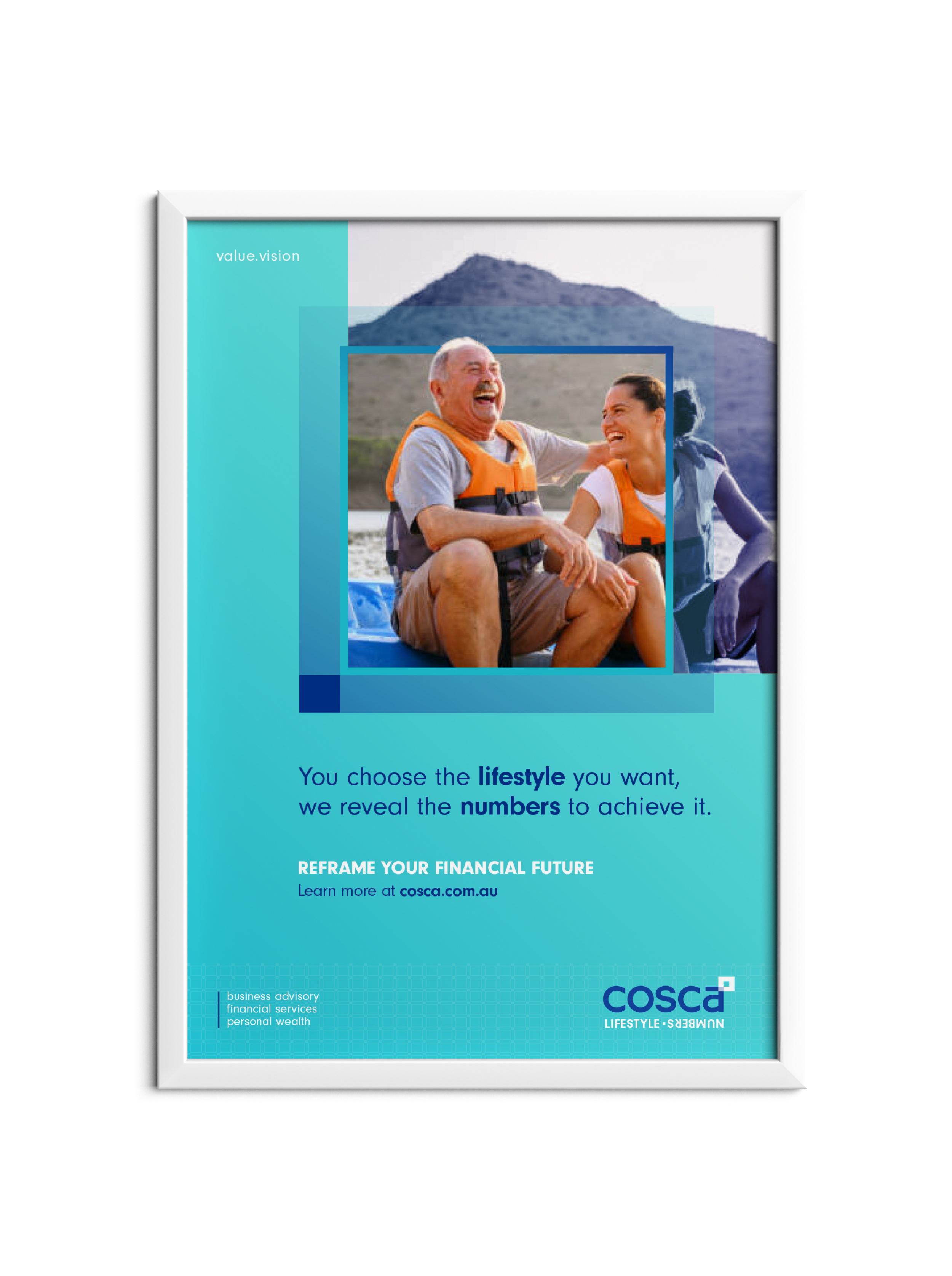 Poster collateral design for target market of retirees